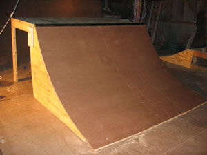 wooden quarter pipe plans