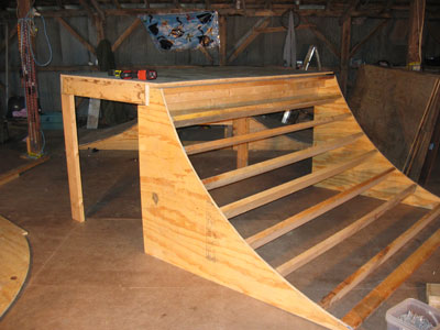 Skateboard Ramp Plans Quarter Pipe