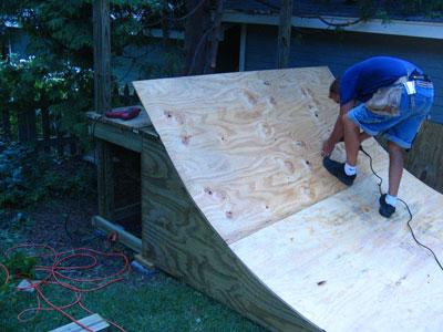Mini Halfpipe Plans Step 6 Plywood Surface